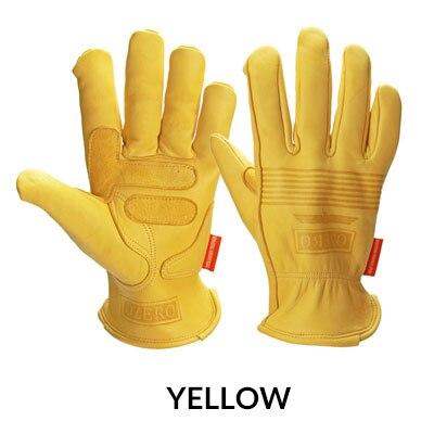 Новые мотоциклетные мото перчатки из овечьей кожи спортивные ветрозащитные Анти-холодные анти-сноуборд лыжные походные охотничьи перчатки для мужчин - Цвет: Yellow