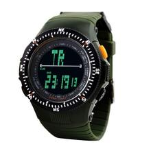 SKMEI 0989 Men Sports Watches Tactical Watch Casual Quartz Clock LED Digital Waterproof Military Wristwatches Travel Kits цена 2017