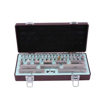 цена на High-speed Steel Block Gauge 47pcs/set Block Gauge 1.005-100 Inspection Measuring Tools