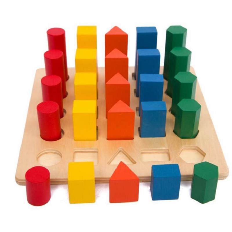 Montessori Educational Wooden Toys Children Shape Color Cognitive Toys Baby Development Practice And Sensory Toys