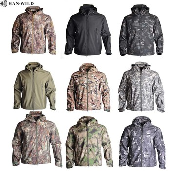 Army Camouflage Airsoft Jacket Men Military Tactical Jacket Winter Waterproof Softshell Jacket Windbreaker Hunt Clothes