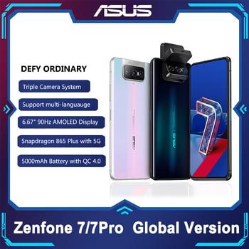 Перейти на Алиэкспресс и купить ASUS Zenfone 7/7 Pro 8 Гб Оперативная память 128/256 ГБ Встроенная память Snapdragon 865/865 плюс 5000 мАч NFC Android Q 90 Гц 5G смартфон