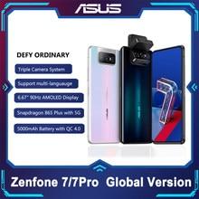 Asus zenfone 7/7 pro 8gb ram 128/256gb rom snapdragon 865/865 mais 5000mah nfc android q 90hz 5g smartphone