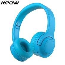 Mpow R8 auriculares, inalámbricos por Bluetooth 5,0 para niños, auriculares con volumen limitado de 93dB y puerto AUX de 3,5mm para MP3, PC, teléfonos y portátiles