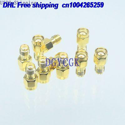 DHL 100pcs Conversion Adapter RPSMA male M connector to SMA female F RF for Antenna connector 22-ct
