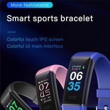 feed me MK05 Smart Bracelet Fitness Tracker Heart Rate blood Pressure Monitor Watch 4 Color Sport Waterproof Smart Band feed me