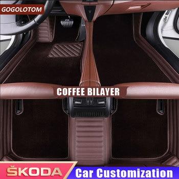 Auto Car Floor Foot Mat for Skoda Superb 2017 3 Kodiaq Yeti Octavia Rs 1 Fabia 3 Karoq Rapid 2017 Car Styling Auto Accessories