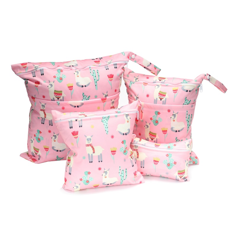 [CHOOEC] Combination 4-piece Set Wet Bag Washable Reusable Cloth Diaper Nappies Bags Waterproof Swim Sport Travel Carry Bag