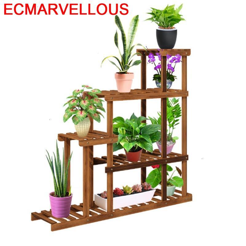 Bunga Estante Flores Table Plantas Estanteria Para Macetas Balkon Etagere Plante Outdoor Balcony Rack Flower Shelf Plant Stand