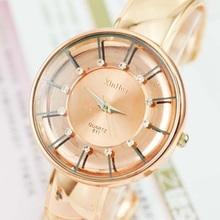 Fashion Luxury Rose Gold Women Bangle Watches Womens Ladies Quartz montre bracelet femme horloge dames