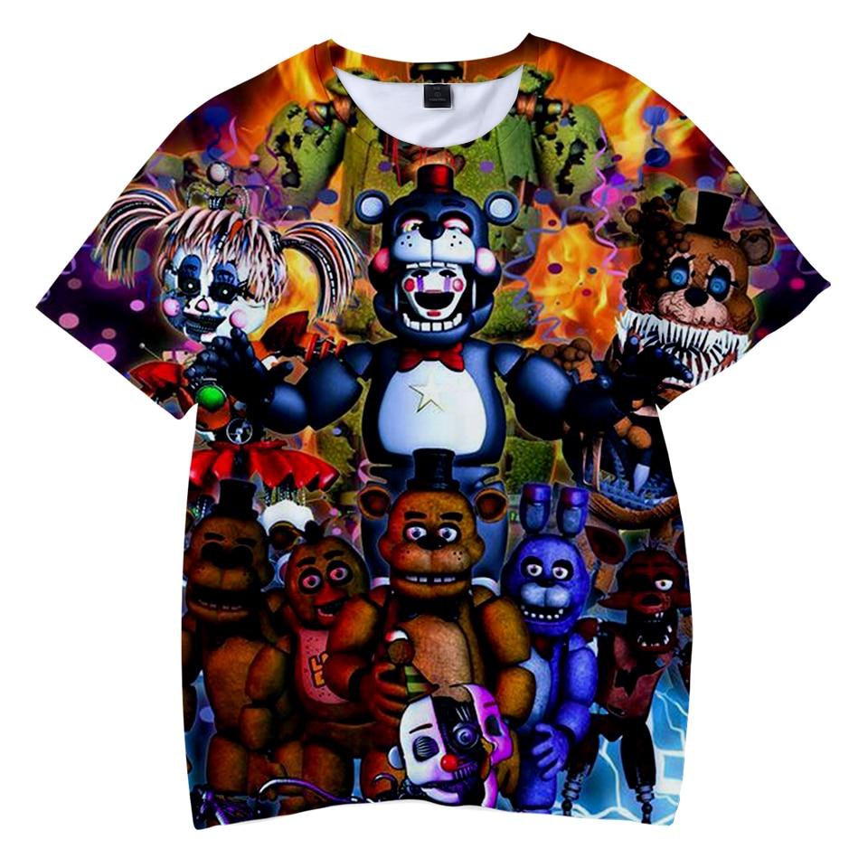 High Quality Children T Shirt 3D Five Nights At Freddy T-Shirts Boys/Girls Clothes Kid's T Shirt Kpop FNAF Tee Shirt