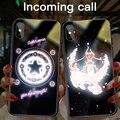 Чехол из стекла с рисунком Сейлор Мун для iPhone XSmax XR XS X 8 7 Plus  Роскошный милый умный светящийся чехол для телефона