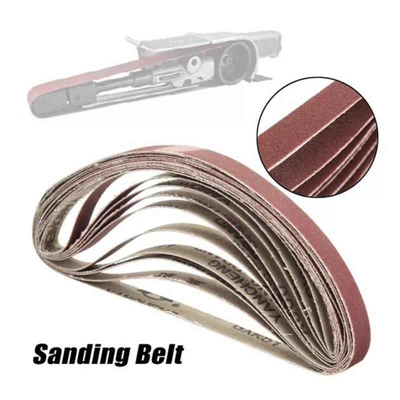 10PCS 330*10mm 40/60/80/100/120 Grit Abrasive Sanding Belts Sander Grinding Polishing Tools