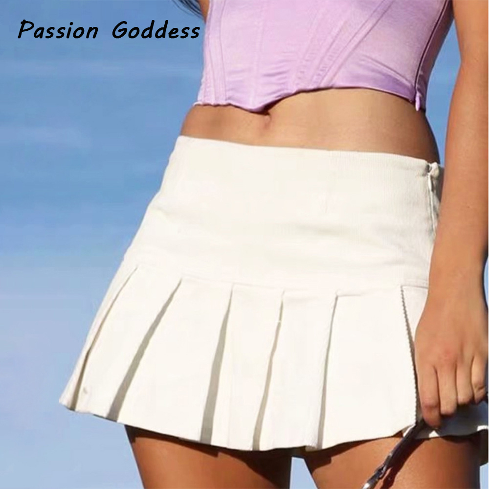 Sexy Frauen Falten Röcke Dance Hohe Taille Mädchen Schule Plissee Rock Cosplay Kawaii Weibliche EINE Linie Weiß Mini Röcke Feminino