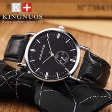 KINGNUOS Wrist Watch Men Brand Luxury Famous Wristwatch Male Clock Quartz  Business 3Bar watch waterproof