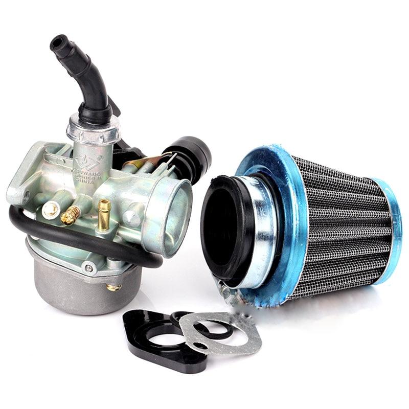 Карбюратор PZ19 19 мм для мотоцикла, внедорожника с прокладкой воздушного фильтра, карбюратор для 50 70 90 110cc 125CC ATV Quad 4 Wheeler Go Kart