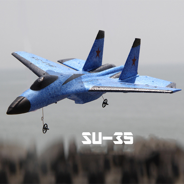 New SU-35 RC Remote Control Airplane 2.4G Remote Control Fighter Hobby Plane Glider Airplane EPP Foam Toys RC Plane Kids Gift 2