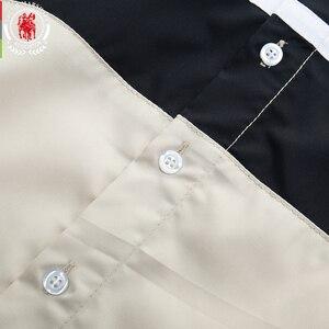 Image 4 - Fredd Marshall 2020 Thời Trang Mới Miếng Dán Cường Lực Áo Sơ Mi Nam 100% Cotton Ngắn Tay Áo Sơ Mi Sọc Homme Camisa Masculina 558932
