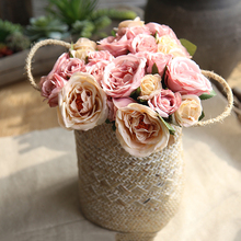 9/18/45 Head Ranunculus Rose Flower Wedding Home Decor Artificial Marriage Collocation Party DIY Bridal Bouquet D25