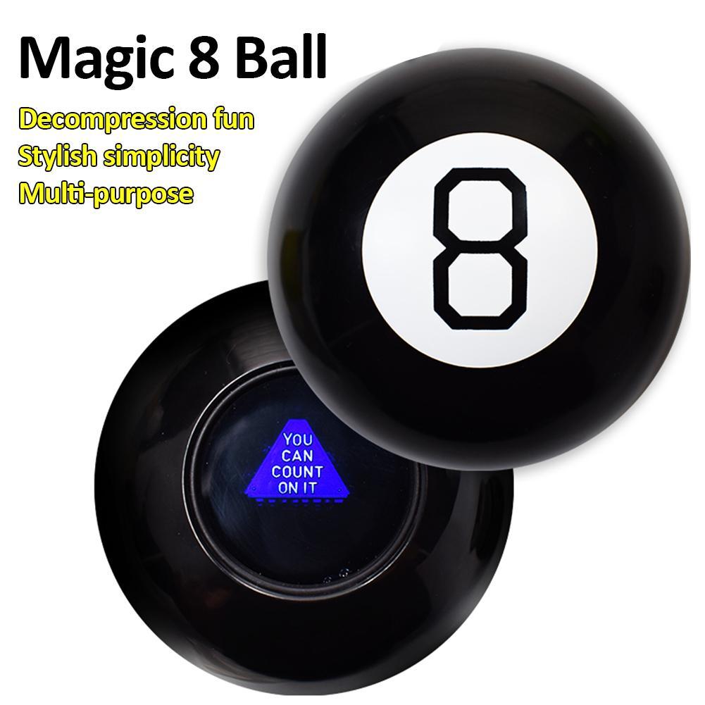 Черный 8 магический реквизит портативный подарок магический шар развивающая игрушка Фортуна веселье сферические трюки предсказать решени...