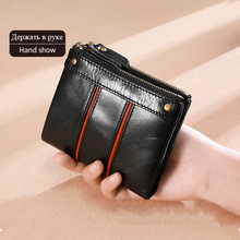 Women's 100% Genuine Leather Wallet Ffid Female Red Coin Purse Small Walet Portomonee Zipper And Money Bag Lady Mini Card Holder kavis genuine leather women wallet female small walet portomonee lady mini zipper money bag vallet coin purse card holder perse