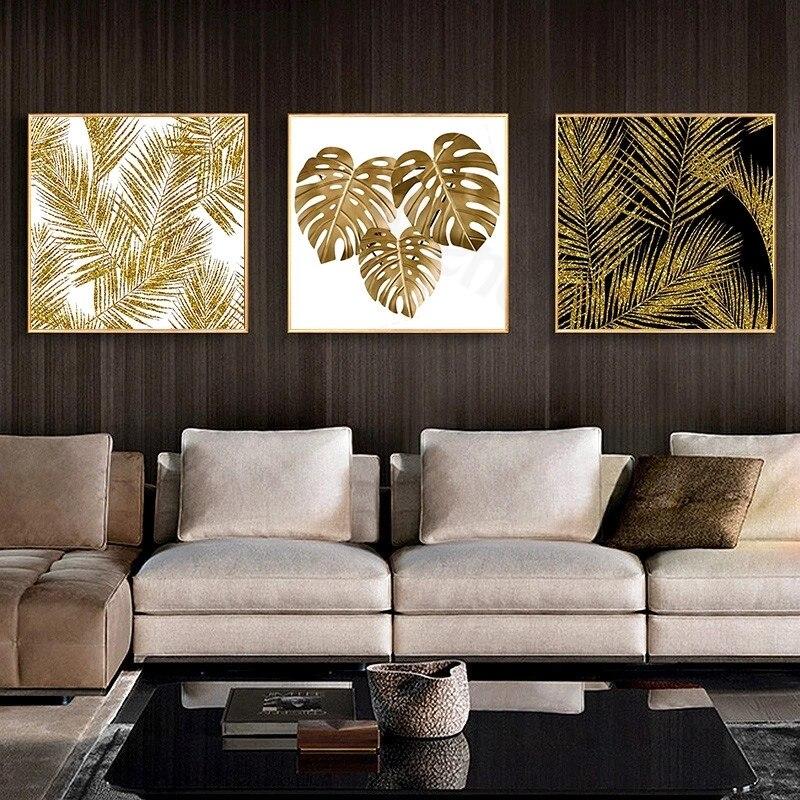 Украшение для дома настенный абстрактный Золотой роскошный квадратный