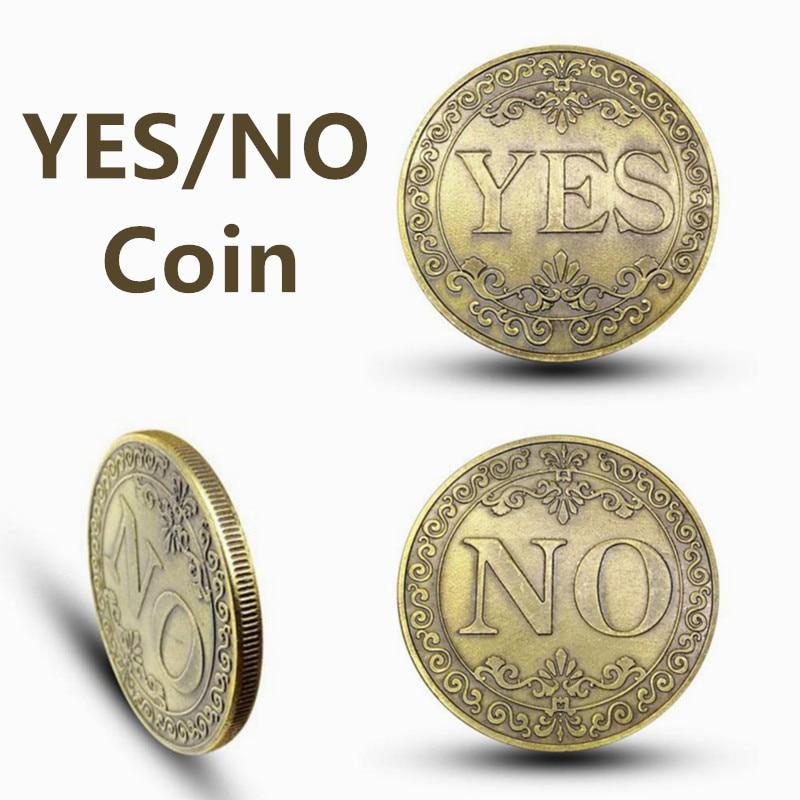 «Да» или «нет» Lucky решение монета памятная монета из сплава ретро коллекция классические монета для фокусов авторская коллекция Non-монеты и...