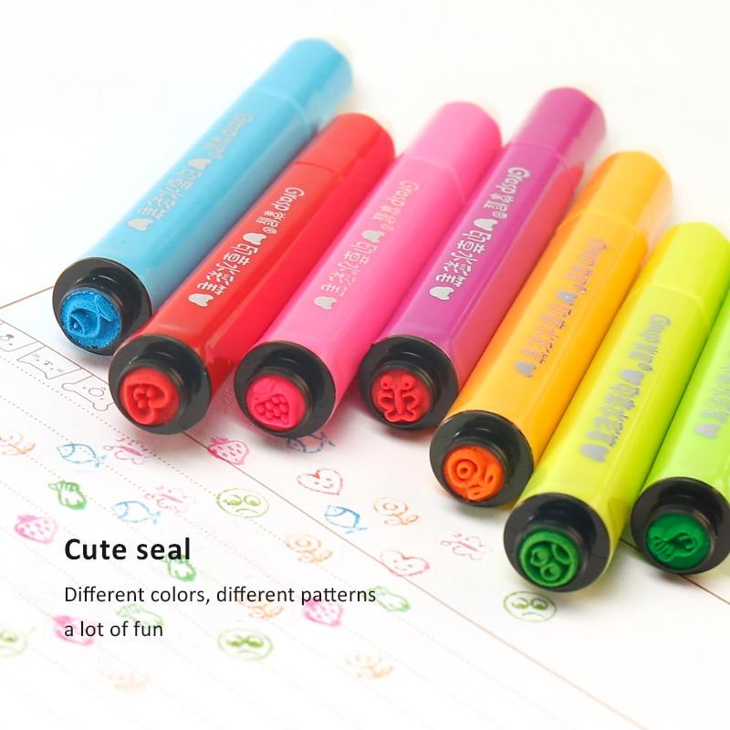 Cute Kids Drawing Pens Stamp Children Seal Washable Watercolor Pen Graffiti Art Marker Painting Pen 12/18/24/36/48/60 Color Set