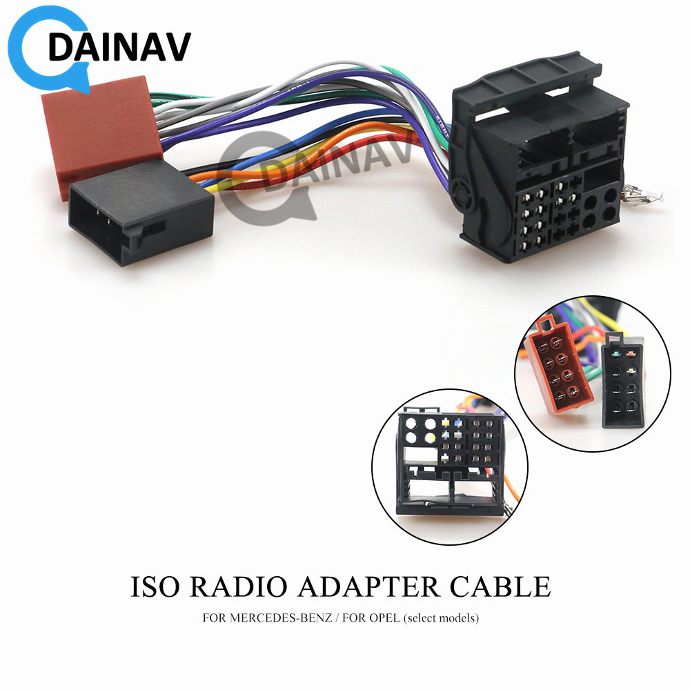 12-124 ISO Radio Adapter for MERCEDES-BENZ for OPEL (select models) Wiring Harness Connector Lead Loom Cable Plug(China)