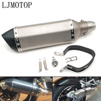 Universal Modified Motorcycle Exhaust Muffler with DB Killer For Buell 1125CR 1125R M2 Cyclone MODEL S1 Lightning Ulysses XB12X