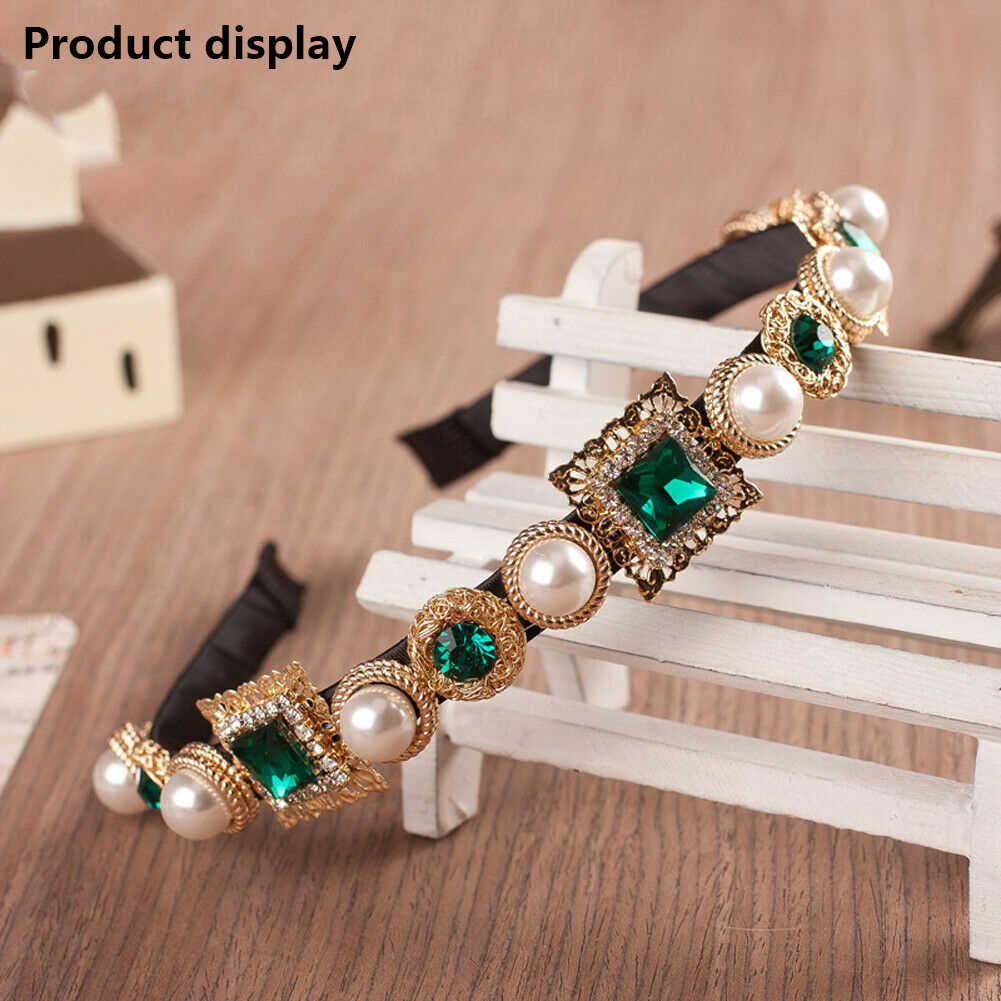 Nette Romantische Shiny Damen Vintage Kristall Stirnband Crown Blume Braut Luxus Frau Haar Band Gute-passende Weibliche Neue Zubehör