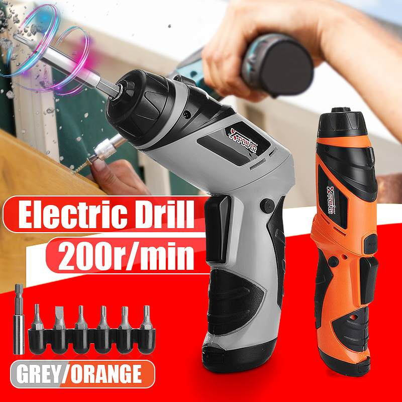 Portable 6V Screwdriver Electric Drill Rechargeable Battery  Professional Cordless Drill  Household Wireless Power Driver