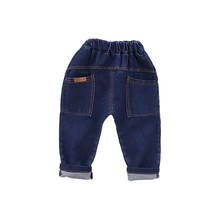 Girls Jeans for Kids spring autumn Trousers Children Jeans Kids Fashion Denim Pants Baby Boys Infant Clothing toddler 0-5 years cheap anrayan Casual Fits true to size take your normal size RY202001069YH Elastic Waist Unisex Solid Loose Light