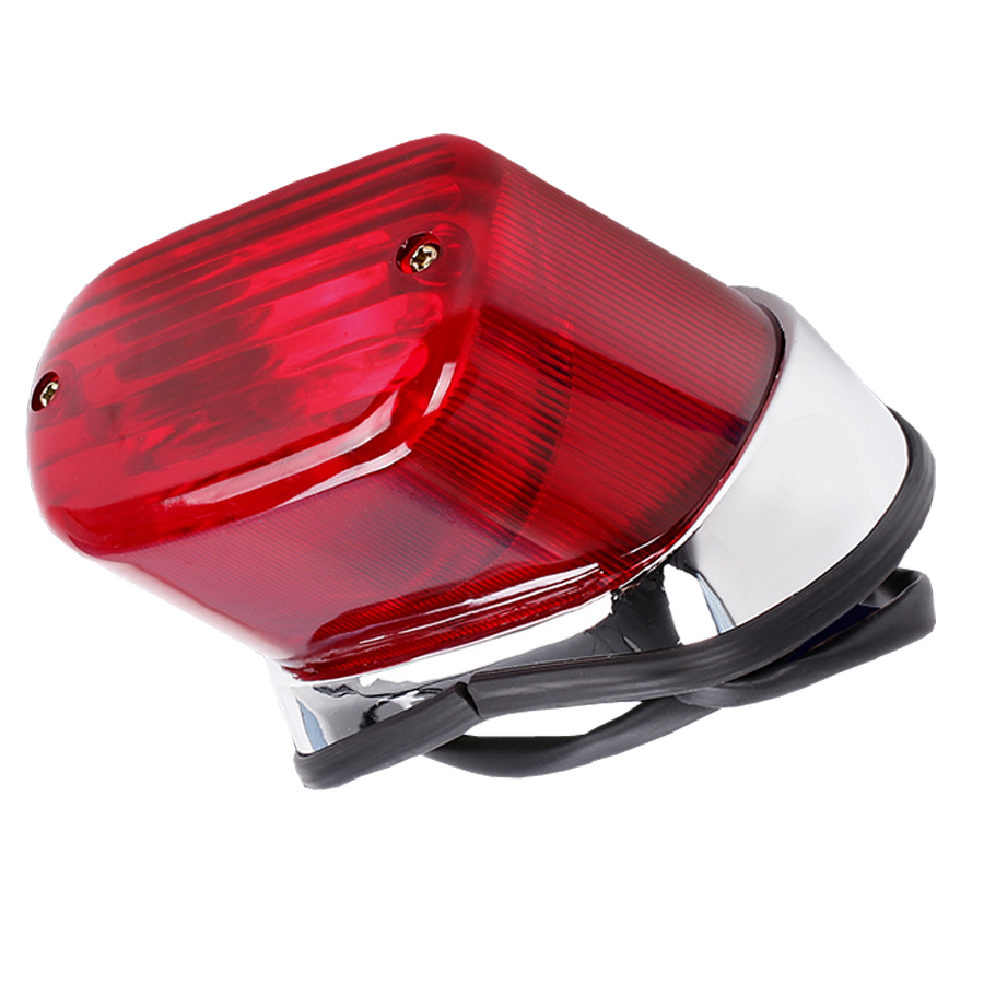 Motorcycle Tail Brake Light ABS Red Motorbike Rear Indicator Stop Lamp For Yamaha Virago XV250 XV400