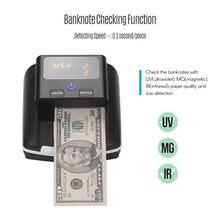 Banknote Bill Detector Stückelung Wert Zähler UV/MG/IR Erkennung Gefälschte Gefälschte Geld Währung Bargeld Checker oder USD EURO