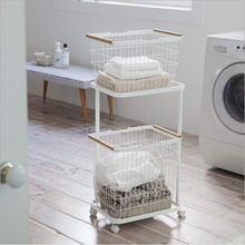 Nordic Dirty Clothes Basket Creative Bathroom Large Rack Clothes Storage Rack Household Removable Layered Laundry Basket