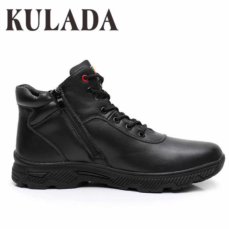 KULADA Giày Giày Sneaker Nam Giày Bốt Thời Trang Mùa Đông Tuyết Ấm Giày Thắt Dây Thoáng Khí Giày Dép Nam Giày