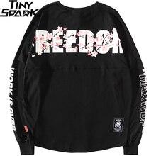 2019 Harajuku Freiheit Sakura Sweatshirt Pullover Hip Hop Streetwear Herren Hoodie Sweatshirts Übergroßen Japanischen Stil Lange Dünne