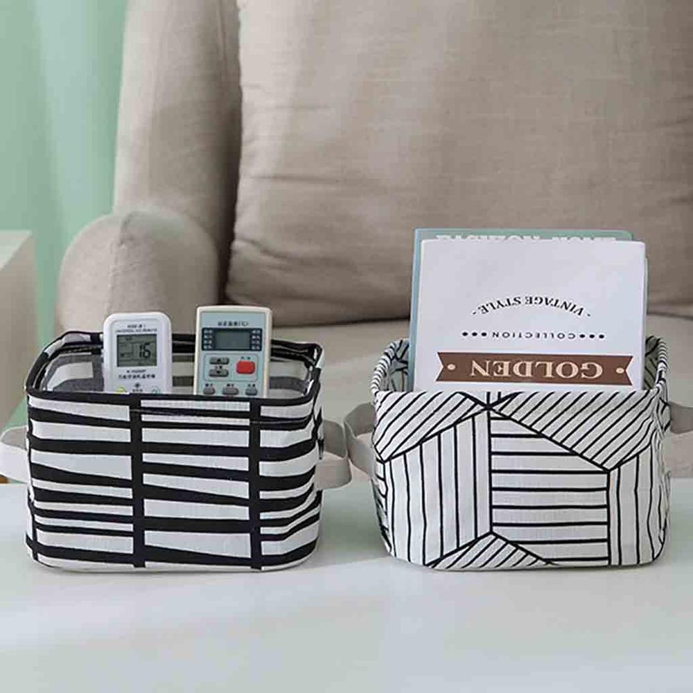 Receive-Case Dresser Rattan-Basket Storage-Boxs Cosmetics Sundry Cotton And Desktop 1pcs