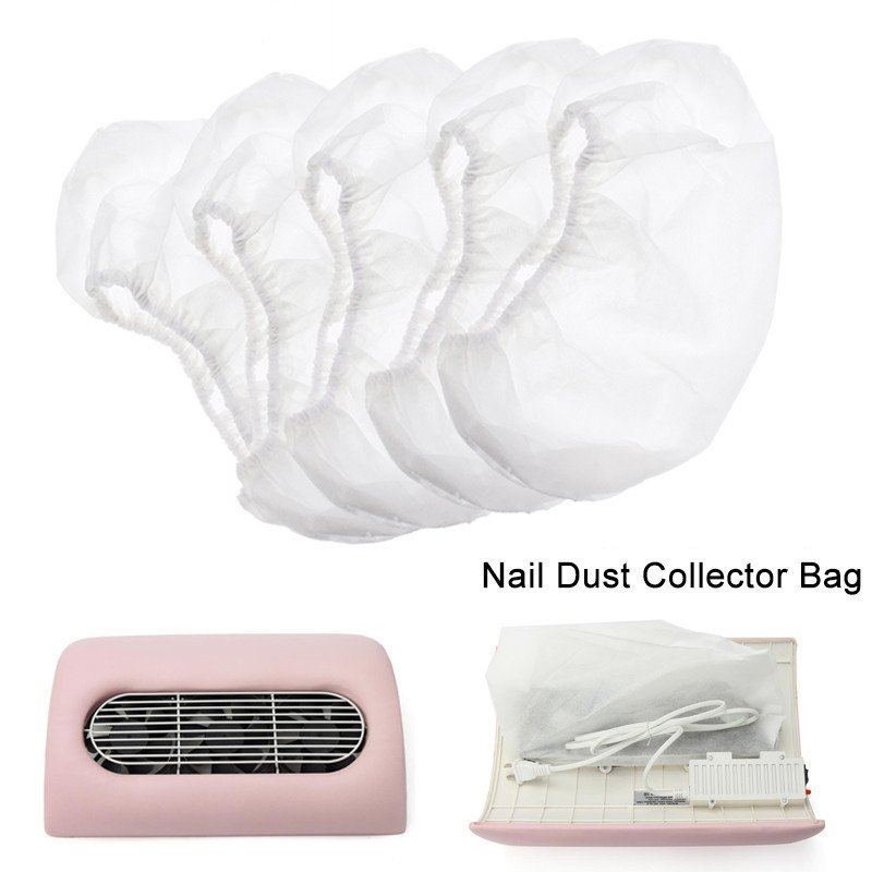 1PC White Nail Dust Collector Bag Non-woven Replacement Bags For Manicure Art Dust Suction Machine Vacuum Cleaner New