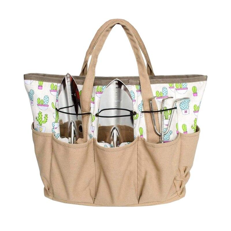 Садовый ручной инструмент сумка набор многоцелевой Органайзер пеленки Оксфорд сумка держатель садоводство и посадка комплект с карманами