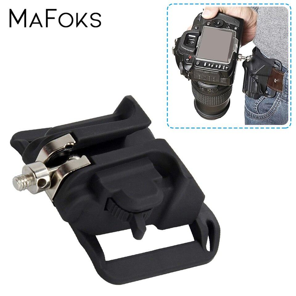 Funda de carga rápida percha de la Cintura Correa Hebilla Clip de montaje de botones para cámara réflex digital