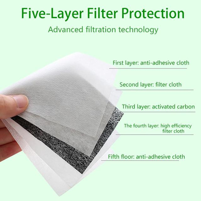 10/50/100 Filters Protective Face Mask Thick Dust And Haze Particles Outdoor Mask For Dust Smoke Allergy Adjustable Reusable 4