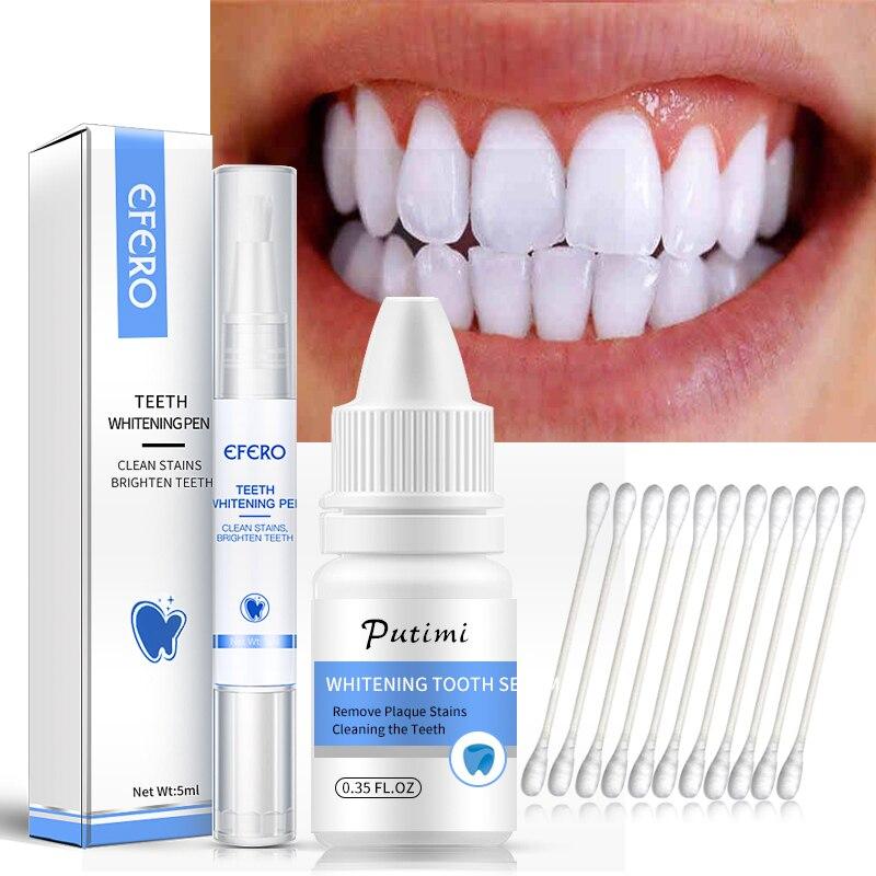 2pcs/set Teeth Whitening Kits Product Whitener Gel Pen Essence Plaque Stains Bleaching Tools Dental Whitening Pen Oral Hygiene