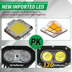 """Image 3 - CO LIGHT 12D Car Led Work Light Bar 4"""" 96W Spot Flood Beam LED Work Lamp for Motocycle Niva SUV Trucks Boat 4x4 Led Bar 12V 24V"""