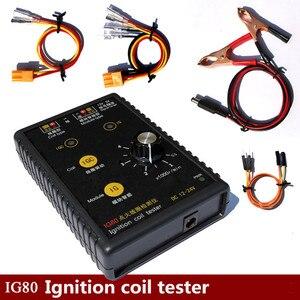 Image 1 - Nuovo arrivo! Test della bobina di accensione della benzina 12V del Gas naturale 24V del Tester del rivelatore della bobina di accensione dellautomobile IG80