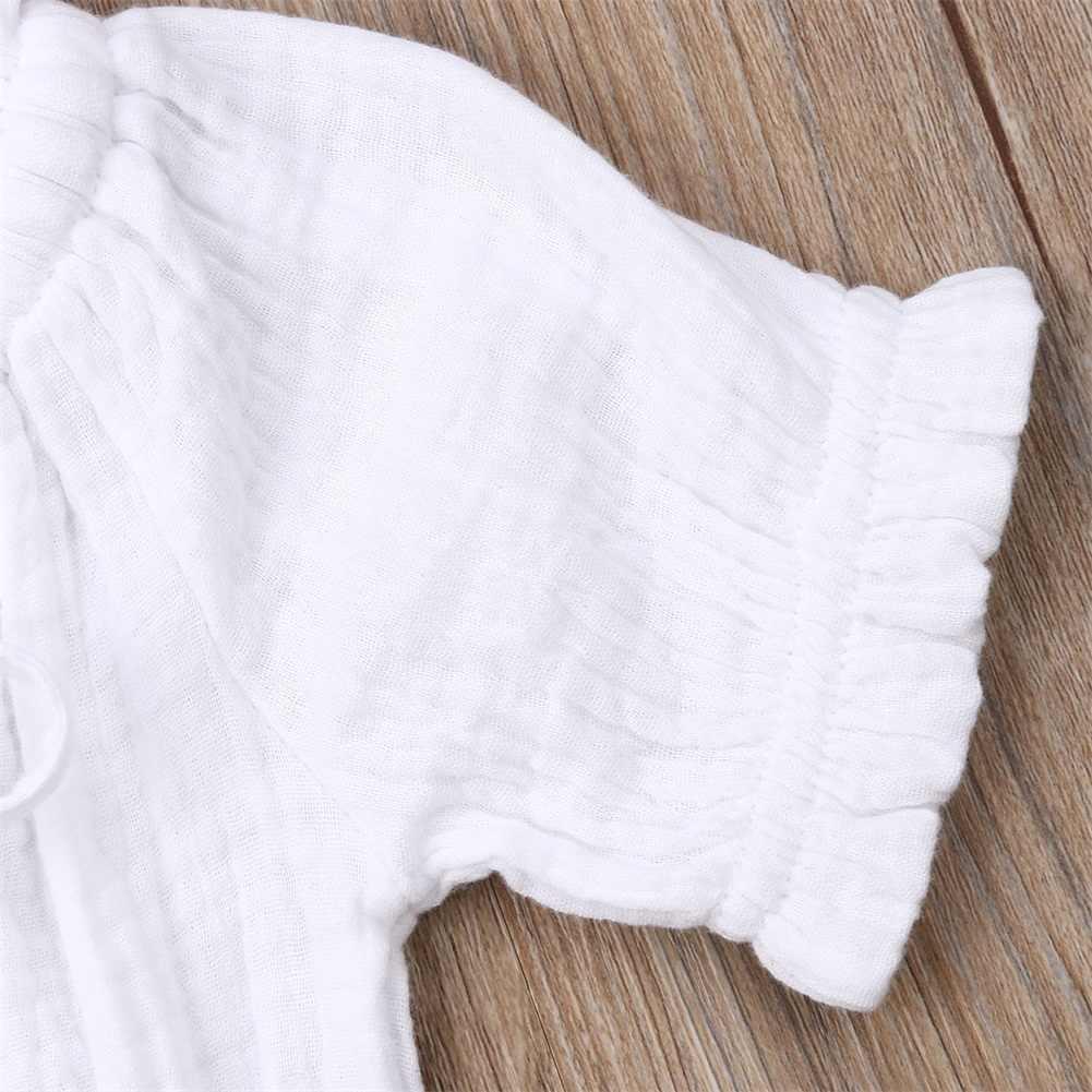 0-4Y Toddler Yenidoğan Bebek Kız Giyim Seti Kapalı Omuz Tops + Ruffles Etek Yaz Kız Kostümleri