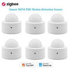 1/2/5/8PCS Zigbee Smart MINI PIR sensore di rilevamento del movimento sicurezza antifurto, Tuya Smart Life APP Monitor remoto, hai bisogno di Hub Zigbee