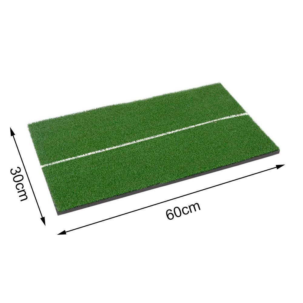 Купить с кэшбэком Indoor Golf Mat Training Hitting Pad Practice Rubber Grass Mat Grassroots Green Golf Training Tools Backyard 30 x 60cm