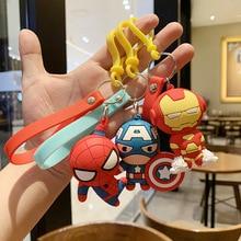 Marvel Legends Avengers Captain America Key Chain Spider-Man Iron Man Cute Cartoon Keychain Creative Satchel Car Pendant Keyring